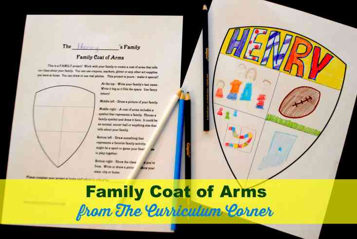 Back to School Printables for the First Day of School - family crest, about me booklet, math and much more! FREE from The Curriculum Corner