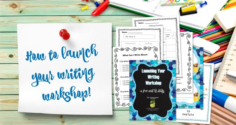 Launching Your Writing Workshop The Curriculum Corner 123