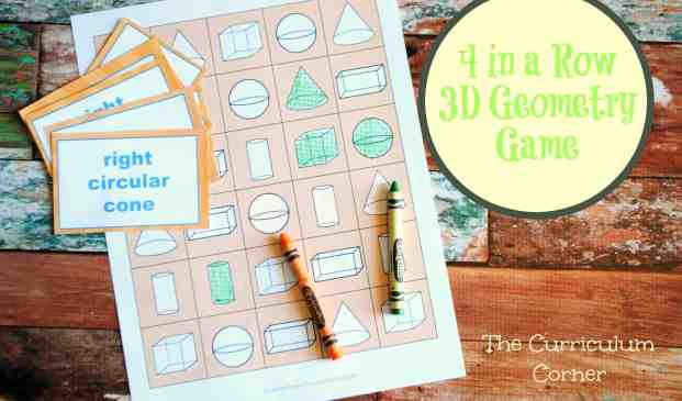 1st Grade Geometry Resources FREE from The Curriculum Corner