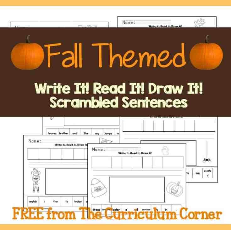 Fall Season Write It! Read It! Draw It!