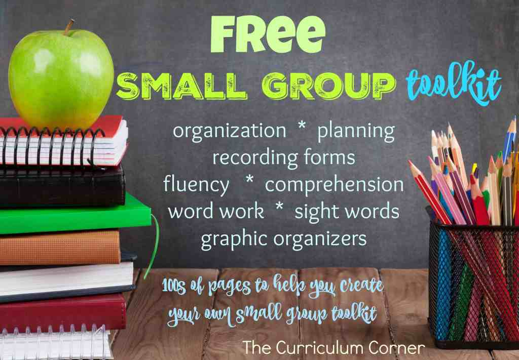 free small group toolkit for teachers