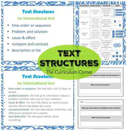 Text Structures: Informational Text Reading Unit