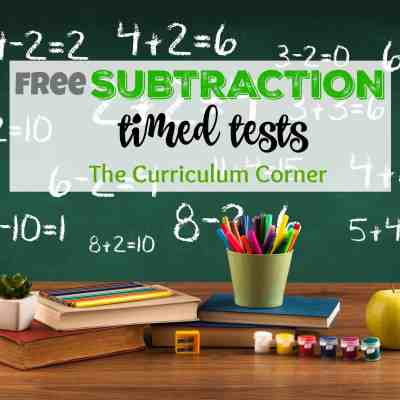 **UPDATED** Subtraction Timed Tests