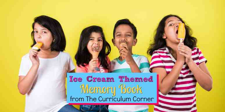 ice cream memory book FREE from The Curriculum Corner