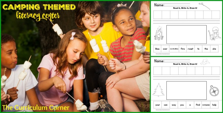 Camping Themed Read It Write It Draw It Literacy Centers FREE from The Curriculum Corner