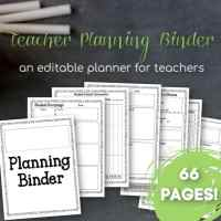 Editable Teacher Planning Binder