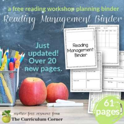 Editable Reading Management Binder