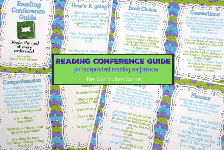Great FREE Resource! Reading Conference Guide for teachers new to conducting reading conferences - The Curriculum Corner