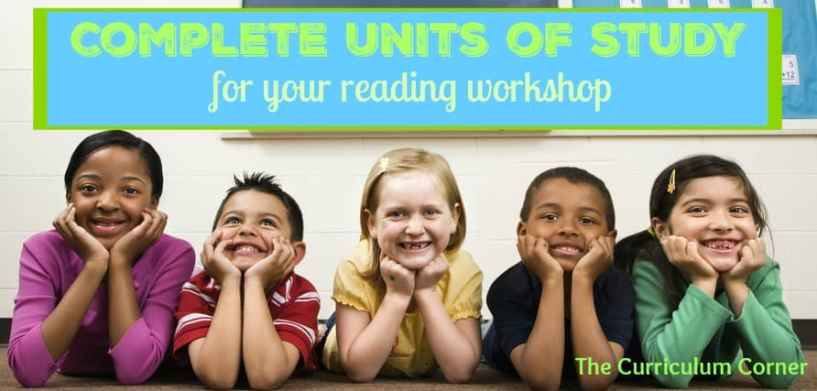 Complete FREE units of study for reading workshop from The Curriculum Corner