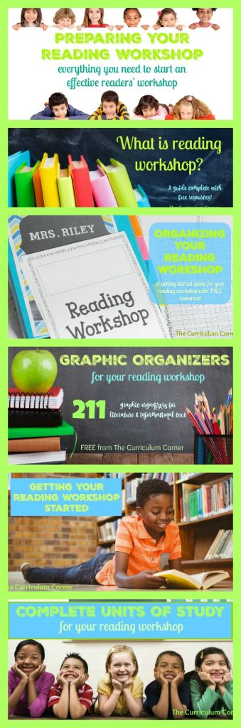 TEACHERS - PIN THIS ONE! Getting started with reading workshop guide - HUGE FREEBIE FIND!!! Everything you need from The Curriculum Corner