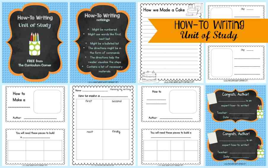FREEBIE How-To Writing Unit of Study for 1st, 2nd and 3rd Grades from The Curriculum Corner