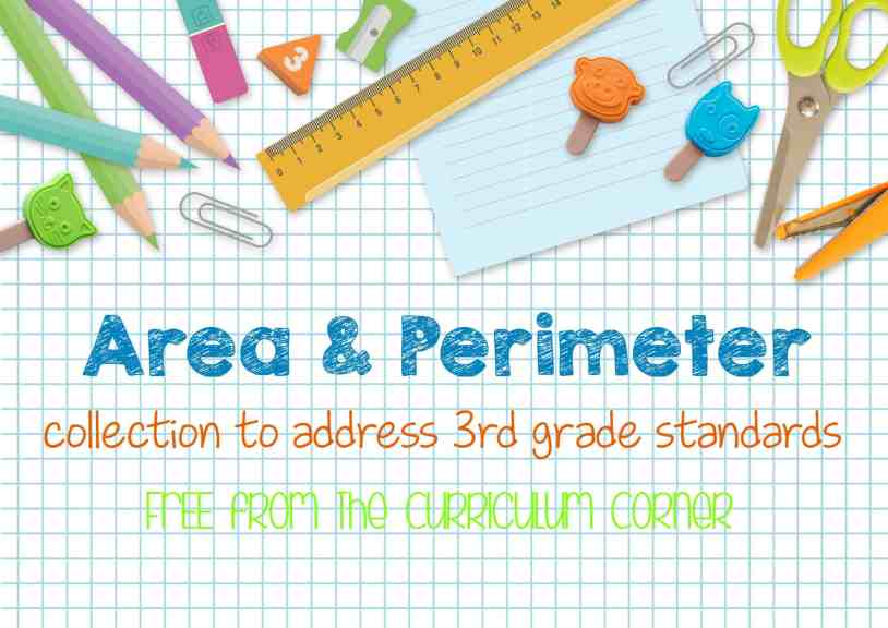 Area & Perimeter Collection of Resources for 3rd Grade FREE from The Curriculum Corner