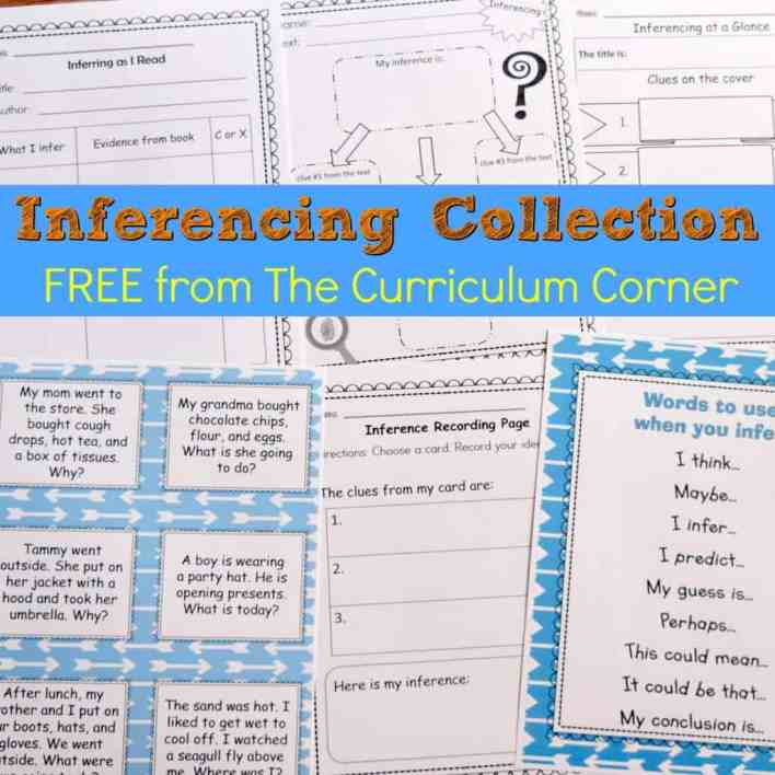 FREE Inferencing Activities Collection by The Curriculum Corner