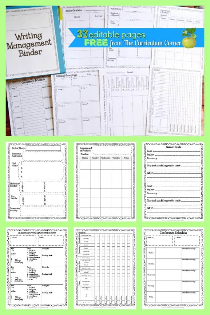 Writing Workshop Binder