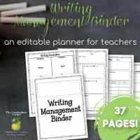 Editable Writing Management Binder
