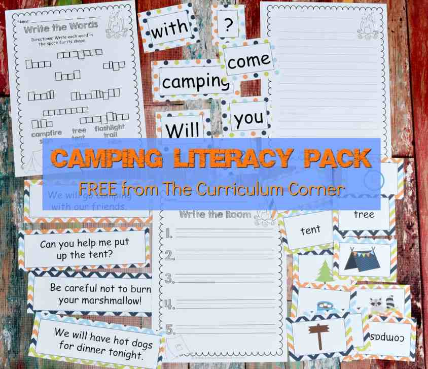 Camping Classroom Theme | FREE Camping Literacy Pack from The Curriculum Corner