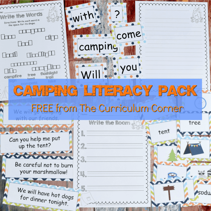 Camping Literacy Pack