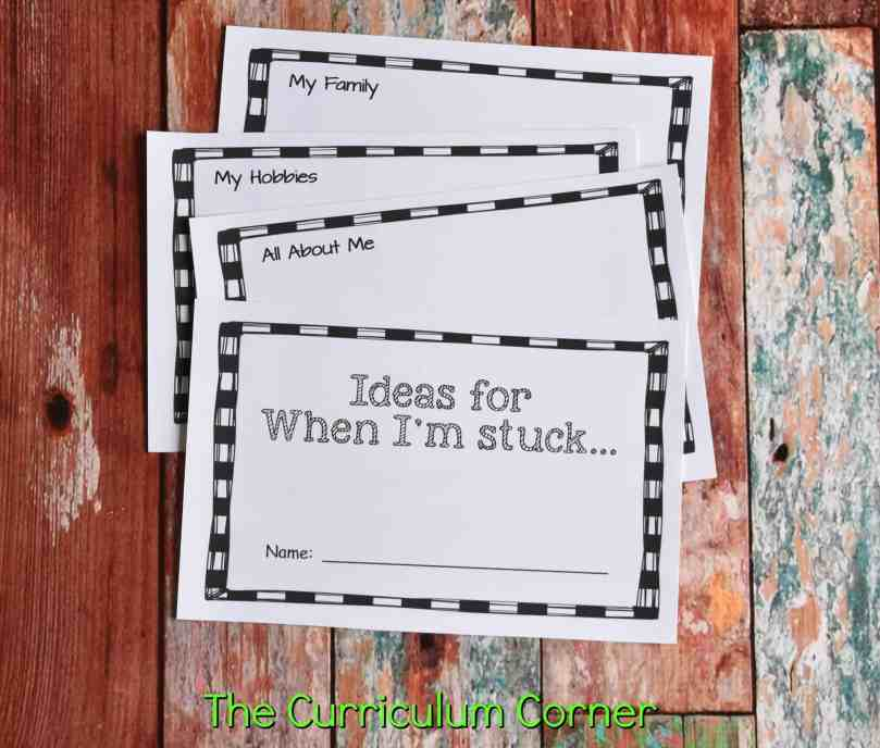 Strategies for Reluctant Writers with FREE Printables from The Curriculum Corner 2