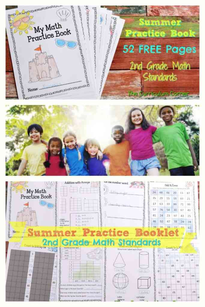 FREE Summer Math Practice Booklet from The Curriculum Corner 4