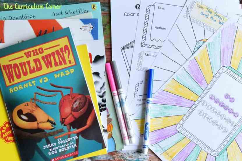 FREE Summer Reading Record Journal from The Curriculum Corner 2