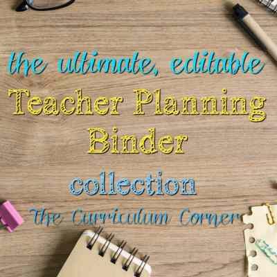 The Ultimate, Editable Teacher Binder Collection