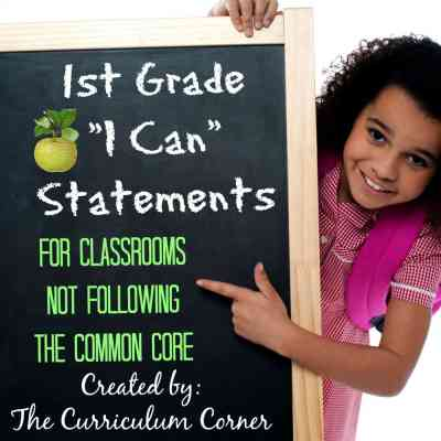 1st Grade Kid Friendly Standards