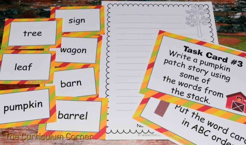FREE Fall Literacy Pack from The Curriculum Corner | Word Work | Fluency Sentences | Write the Room & more 5
