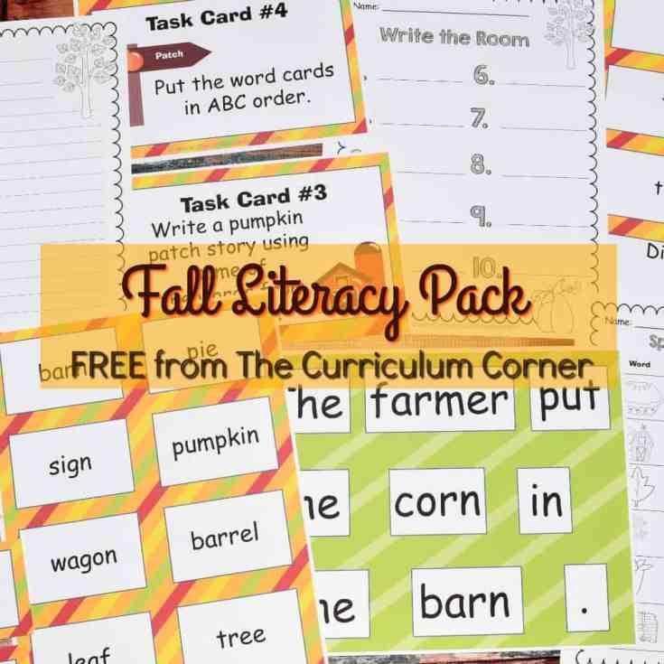 Fall Literacy Pack Set