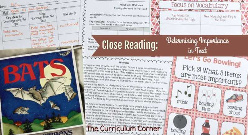 FREE Close Reading: Determining Importance in Text from The Curriculum Corner 2