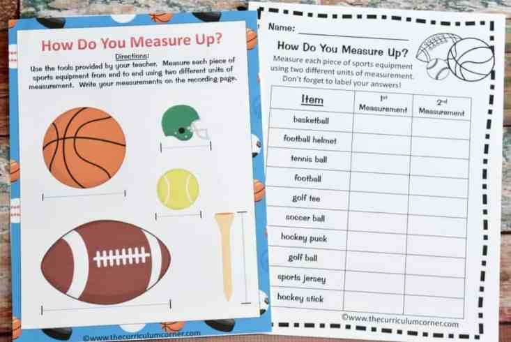 FREE Sports Math & Literacy Centers from The Curriculum Corner 2