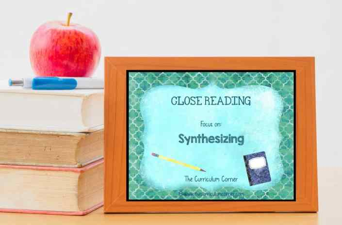 FREE: Close Reading Synthesizing Informational Text from The Curriculum Corner 3