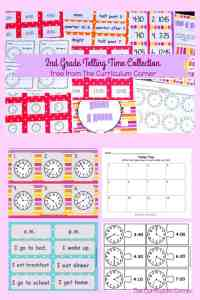 FREE Telling Time Resources for 2nd Grade Math | The Curriculum Corner | Centers 9