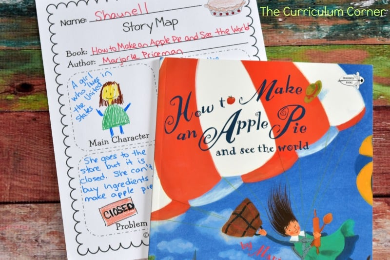 FREE Literacy Center Activities for How to Make an Apple Pie and See the World FREE from The Curriculum Corner 5