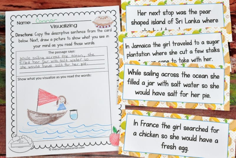 FREE Literacy Center Activities for How to Make an Apple Pie and See the World FREE from The Curriculum Corner 3
