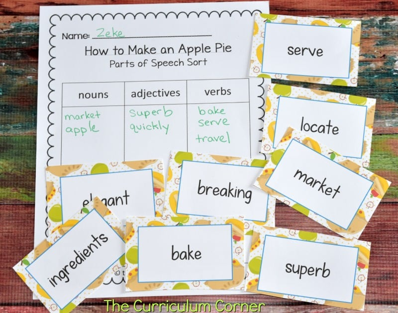 FREE Literacy Center Activities for How to Make an Apple Pie and See the World FREE from The Curriculum Corner 6