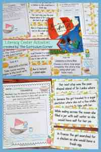 FREE Literacy Center Activities for How to Make an Apple Pie and See the World FREE from The Curriculum Corner 4