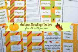 FREE Autumn Reading Centers for Intermediate Classrooms from The Curriculum Corner