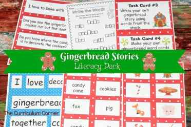 FREE Gingerbread Literacy Centers from The Curriculum Corner 2
