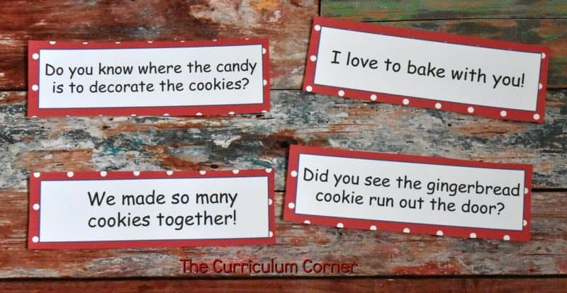 FREE Gingerbread Literacy Centers from The Curriculum Corner 5