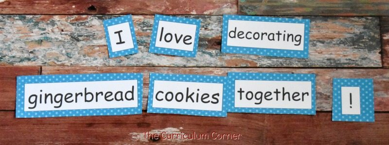 FREE Gingerbread Literacy Centers from The Curriculum Corner 6
