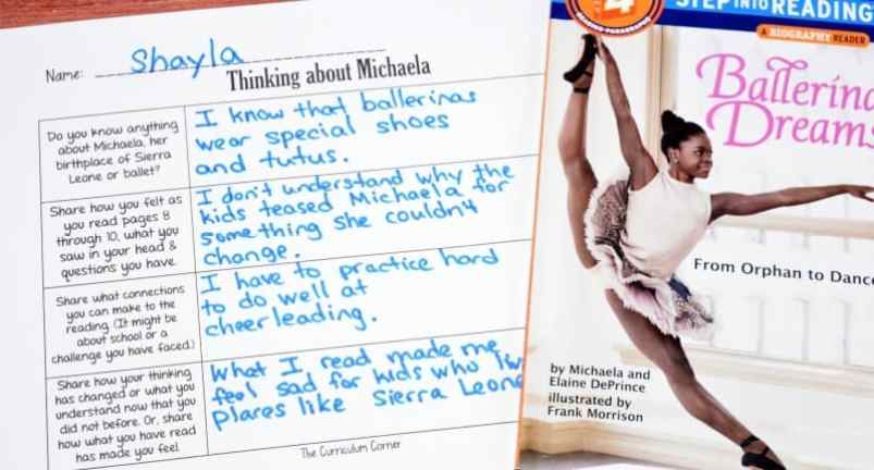 FREE Book Study Ballerina Dreams about Michaela DePrince from The Curriculum Corner 3