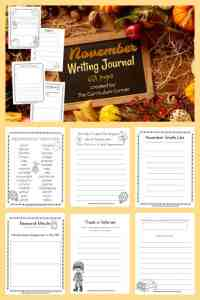 FREE November Wriitng Journal from The Curriculum Corner - 63 pages! 4