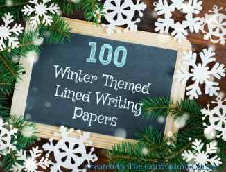 FREE Winter Themed Lined Writing Papers from The Curriculum Corner | Winter Lined Papers 3