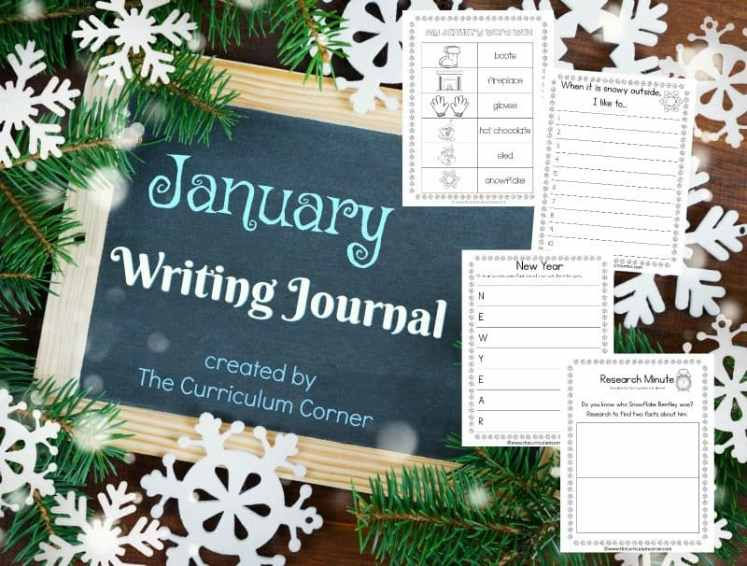 This January journal is designed for your primary classroom. Use the pages to create journals or for January writing prompts.