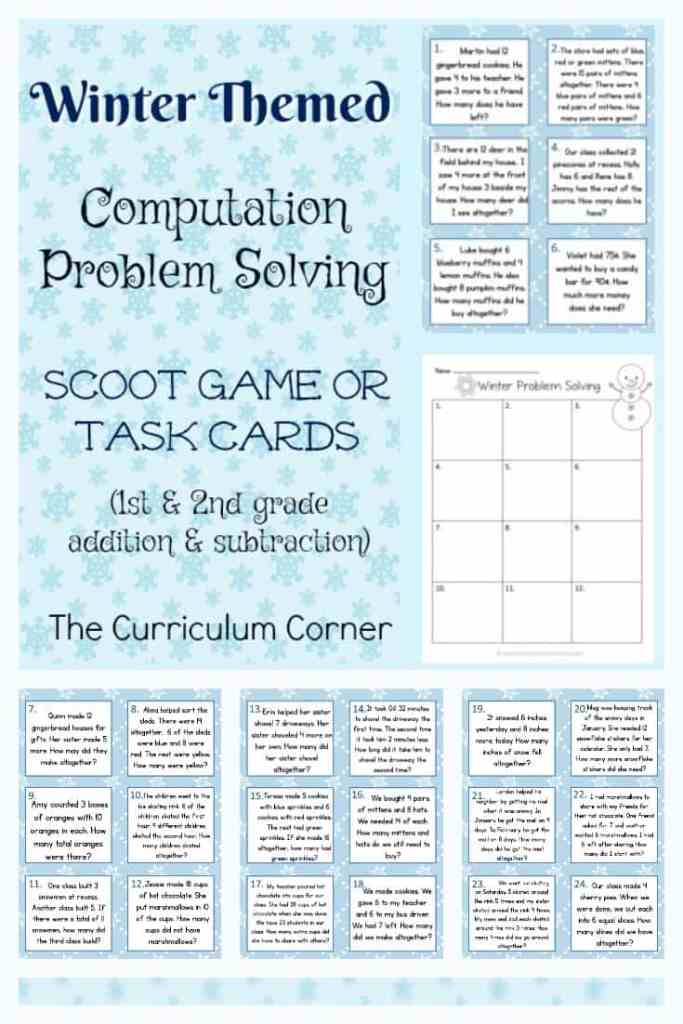 Winter Problem Solving Practice Problems