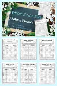 Winter Addition Practice Game