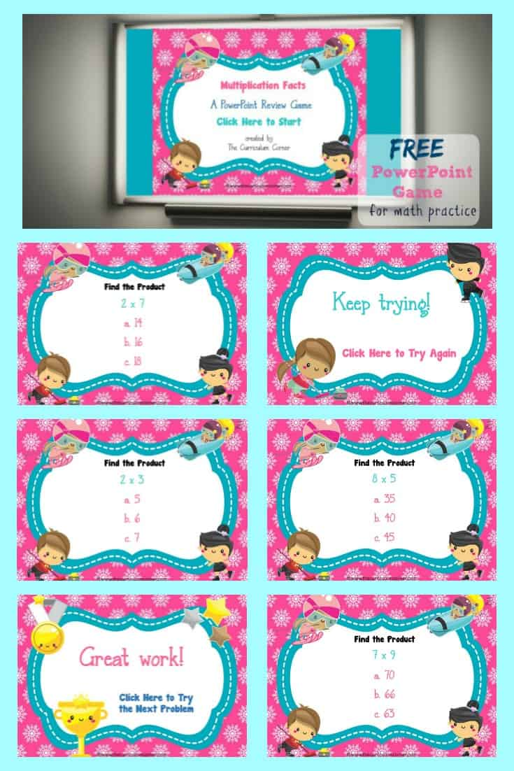 FREE Winter Multiplication Facts Practice from The Curriculum Corner 4