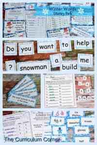 Winter Word Work FREEBIES from The Curriculum Corner