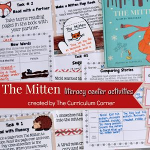 The Mitten Book Printables FREE from The Curriculum Corner