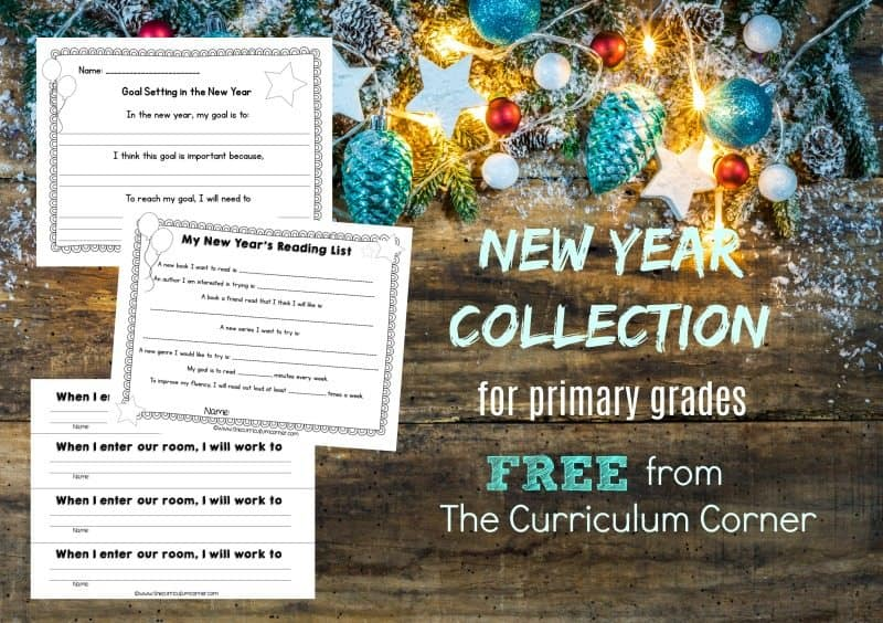 This set of New Year Classroom Ideas for primary grades is designed to give your classroom a new start in the New Year.